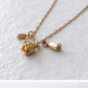 2 For 38⚡️Madewell Rosebud Necklace - Old Gold